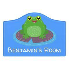 $14.46 | Cute happy green frog cartoon illustration #cartoon #cute #funny #adorable #frog #amphibian #froggy #green #happy #froggie Kids Door Signs, Frog Sitting, Happy Cartoon, Foam Adhesive, Green Frog, Dry Erase Board, Room Signs, Acrylic Material, Make Your Mark