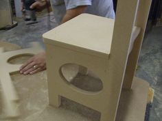 Kids chair project, all parts cut on CNC machine for assembly
