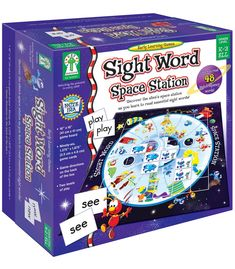 Teach 48 high-frequency sight words with this concentration-style game that includes color-coded cards for two levels of play. Children practice reading and memory skills by finding sight word pairs. As a fun bonus, an alien space station is revealed as matched cards are removed from the board. It includes a game board, 96 game cards, and directions. Perfect for up to 8 players, it also supports NCTE and NAEYC standards.