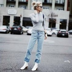 3ac47e45490 20 Best White Ankle Boots images in 2017 | White ankle boots ...