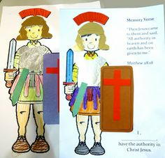 Jesus heals the centurions servant. Kids craft. Make a paper doll of the centurion. Looks like fun for the kids