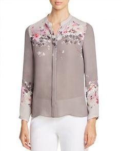 298.00$  Buy now - http://viipz.justgood.pw/vig/item.php?t=nozmzr30981 - Elie Tahari Vivian Floral Block Blouse 298.00$