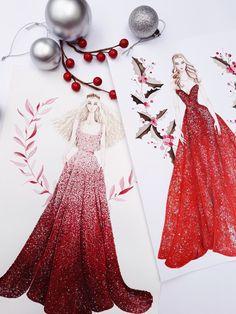 MERRY CHRISTMAS #fashion #fashionillustration #illustrator #fashionillustrator #draw #drawing #sketch #sketches #sketching #arronlamaluan #vietnamillustrator