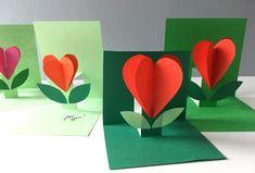 Kvietok pre mamičku Origami, 5th Grade Art, Preschool Education, Baby Makes, 8th Of March, Art Classroom, Valentine Day Cards, Art Activities, Spring Crafts