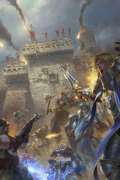 World of Warcraft Art — Battle Of Lordaeron [Artist: lie setiawan. Art Warcraft, World Of Warcraft 3, World Of Warcraft Characters, Fantasy Characters, World Of Warcraft Wallpaper, Blizzard Warcraft, War Craft, Heroes Of The Storm, Fantasy Island
