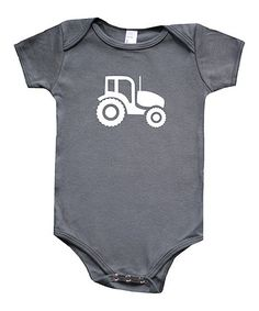 Another great find on #zulily! Charcoal Tractor Bodysuit - Infant by My Lullabug #zulilyfinds