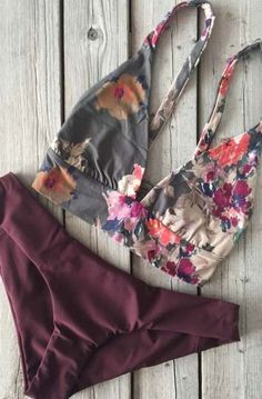 Boys and Arrows Fillis Top Darling and Yaya Bottom Burgundy The latest swimwear and cover-ups from Anthropologie: Trendy Swimwear, Cute Swimsuits, Women's Swimwear, Teen Swimsuits, Micro Swimwear, Summer Swimwear, Swimwear Brands, Summer Suits, Summer Wear
