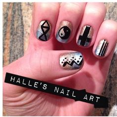 Hipster nails by Halle butler