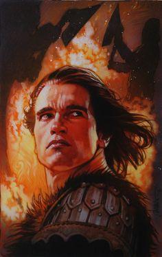 Drew Struzan, Schwarzenegger in King Lear (fake poster seen in The Lost World)