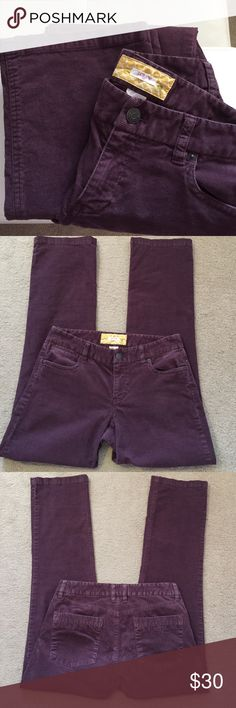 J. Crew Cords (4R) Eggplant colored, Bootcut cords! These are so fun! EUC with no visible signs of wear. A great Fall/Winter staple - so versatile. 🔴Reasonable offers always welcome! J. Crew Pants Straight Leg