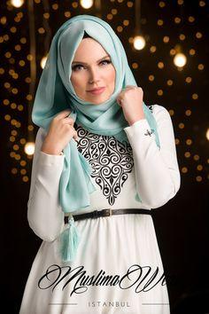 Muslima Wear Chiffon Scarf hijab Mint Color | US Muslima Wear