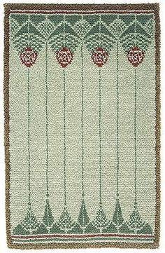 Finnish Rya, 'Käpy', Design: Emma Saltzman, the early Rya Rug, Wool Rug, Scandinavian Embroidery, Art Nouveau, Art Deco, Modern Tapestries, Yarn Stash, Tapestry Weaving, Fabric Weaving