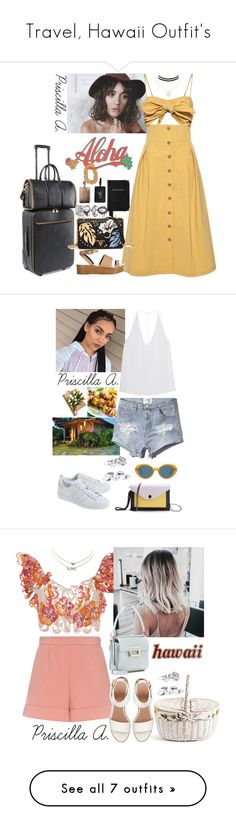 """""""Travel, Hawaii Outfit's"""" by priscillaanakwah ❤ liked on Polyvore featuring Sea, New York, TIBI, STELLA McCARTNEY, Charlotte Russe, Prada, Aspinal of London, Ashley Stewart, GET LOST, Cushnie Et Ochs and Abercrombie & Fitch"""