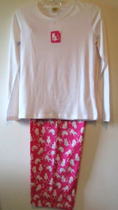Womens Winter Kitty Cat Pajamas by Toast and Jammies Size M L XL Sleepwear Sets | eBay