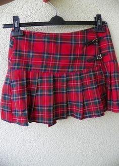 Kup mój przedmiot na #vintedpl http://www.vinted.pl/damska-odziez/spodnice/9753313-czerwona-krotka-podniczka-w-krate
