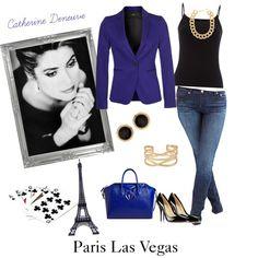 """Paris Las Vegas"" by creationsbyloriphotogaphy on Polyvore - Featuring #BulletBlues Fox #madeinUSA - www.bulletbluesca.com"