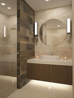 30 Best Classic Glass Block Shower Layout - Home Decoration Styling Contemporary Bathrooms, Modern Bathroom, Small Bathroom, Shower Bathroom, Bathroom Ideas, Bathroom Mirrors, Budget Bathroom, Bathroom Organization, Bathroom Cabinets