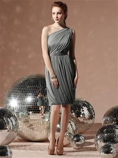 Social Bridesmaids Style 8117 - Charcoal Gray.  front ok, not crazy about the strap on back.