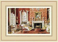 A Classic English Country House Drawing Room art print by Mark Hampton