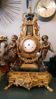 Another satisfied client! #Italian #made #French #reproduction #seraph #brass #mantle #beautiful #timepiece #clock #cherub #angel #watch #repair #inlandempire #estate #furniture #decorating #antique #vintage #shopping #holiday #gifts Our loyal customers are the key to our success! @jimmysalpineclockshop