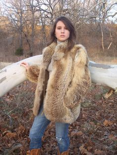 Red Fox Fur Jacket.