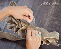 Tidbits&Twine How to Make a Bow Step 9