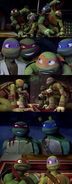 TMNT -I like the last one Donnie and Raph r so cute there