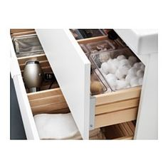 IKEA - GODMORGON / ODENSVIK Sink cabinet with 2 drawers white - We can install one of these in the guest bath, which would provide storage under the sink. Diy Bathroom, Bathroom Furniture, Master Bathroom, Home Furniture, Bathroom Ideas, Bathrooms, Bathroom Organization, Bathroom Storage, Plastic Foil