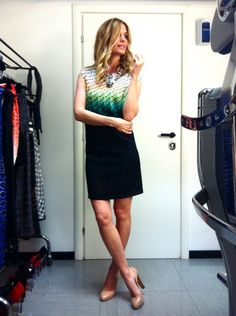 "Milan, April 21: Filippa Lagerback has chosen a Missoni dress SS 2013 for ""Che tempo che fa"" last episode"