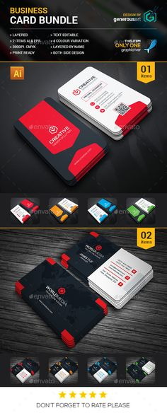 Business Card Template Bundle - Volume 2 Business card templates - id card psd template