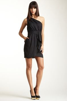 BCBGeneration Pleat Flounce Dress by Black & White: Apparel on @HauteLook $39