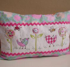 Birdie cushion by Roxy Creations, via Flickr