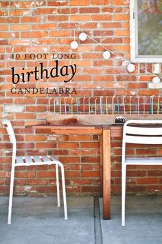 10 foot long birthday candelabra