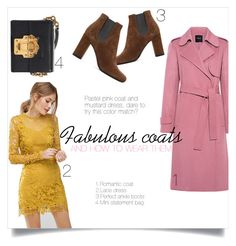 """Fabulous coats and how to wear them v.2"" by taniadeseptembre ❤ liked on Polyvore featuring Theory, ASOS, Dolce&Gabbana, Yves Saint Laurent, Winter, pastels, coat, mustard and winterstyle"