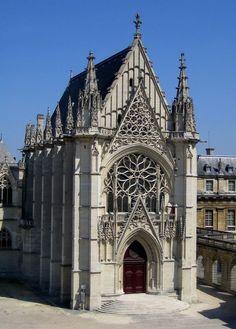 Sainte Chapelle. Gothic, built in 1248 in Paris, France.