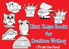 Class Shape Books  Creative Writing for Classroom Library