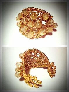 This cuff showcases natural citrine stones which are linked with emotional warmth, creativity, and success! The stylish design wraps the wrist with charm and beauty! www.toniandberne.com