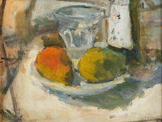 ZYGMUNT SCHRETER (SZRETER) (1896 - 1977)  MARTWA NATURA   olej, karton, / 27 x 35 cm
