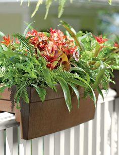 Luxury Self Watering Balcony Railing Planter