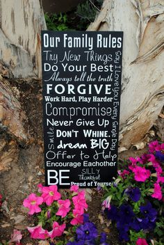 Family Rules Signs House Rules Customize with by SignsToLiveBy