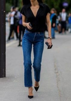 black top and jeans-- chic essentials