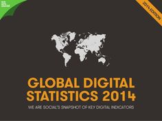 New report reveals updated global Internet, social media and mobile stats Marketing Communications, Mobile Marketing, Online Marketing, Social Media Marketing, Digital Marketing, Marketing Ideas, Social Web, Social Business, Small Business Marketing
