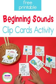 Instead of using flashcards to practice letter sounds, try different and new activities that are fun and engaging. Our free Beginning Sounds Clip Cards are easy to prep, can be played independently or in small groups, and provide great fine motor skills practice as students clip and unclip the clothespins! Literacy Skills, Kindergarten Literacy, Literacy Activities, Preschool, Initial Sounds, Letter Sounds, Sound Clips, Sight Word Activities, Beginning Sounds