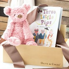 Three Little Pigs & Teddy Bear All Gifts, Craft Gifts, Gifts For Kids, Olive And Cocoa, Cotton Gifts, Three Little Pigs, My Little Girl, Paper Gifts, Cuddling