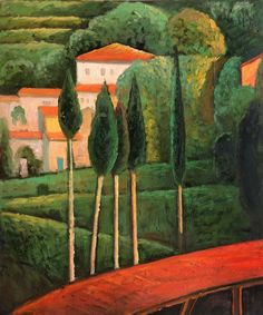 Landscape Southern France by Amedeo Modigliani Canvas art Painting High quality Hand painted Amedeo Modigliani, Modigliani Paintings, Italian Painters, Italian Artist, Famous Modern Art, Cheap Paintings, Oil Painting Reproductions, Naive Art, Art For Art Sake