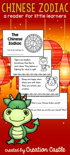 Learn about the characteristics of animals from the Chinese Zodiac. Perfect to teach around the Chinese New Year!