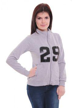 Олимпийка А3117 Размер: 42,44,46,48,50 Цвет: серый Цена: 525 руб.  http://optom24.ru/olimpiyka-a3117/  #одежда #женщинам #олимпийки #оптом24