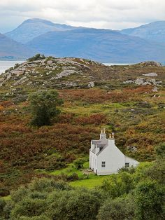 So many beautiful isolated cottages in Scotland. Even though you're removed from society, you don't really miss it with the natural beauty.