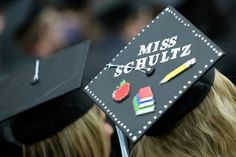 UWO teacher inspired decorated graduation cap