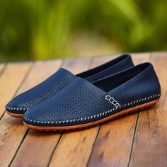 Men Espadrille Fashion Casual Flats Shoes Big Plus Size Loafers Boat Shoes Flat Shoes Driving Cut Out Holes Breathable